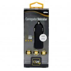 CARREGADOR VEICULAR 2 SAÍDAS USB PRO